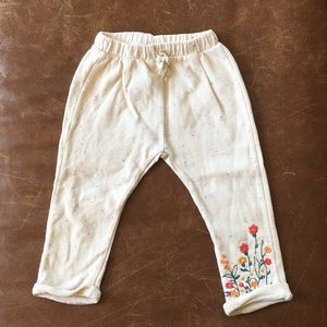 Zara flower sweatpants